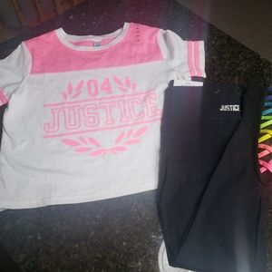 New Justice Rainbow Outfit Size 10